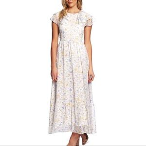 🌼CeCe Provence floral ruffle hem maxi dress